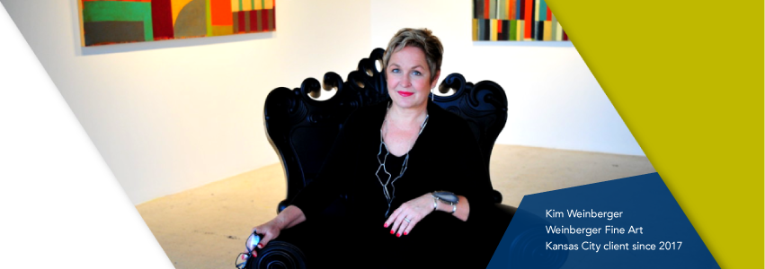 Karen Weinberger of Weinberger fine art, a Lead Bank Kansas City community client