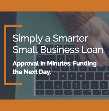 Simply a smarter small business loan - Approval in minutes, funding the next day