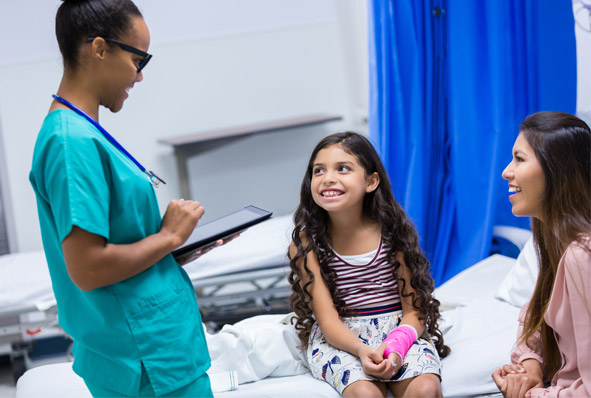 Lead Bank HSA community clients at a doctor