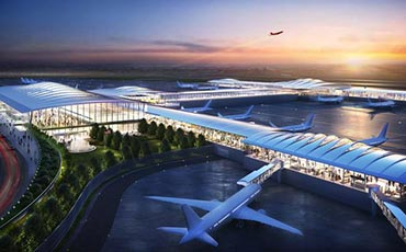 The future Kansas City International Airport KCI Single Terminal from Edgemoor with financing from community bank Lead Bank