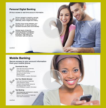 Images of Lead Bank online mobile banking and security training videos